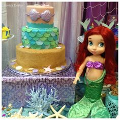 Incredible cake at a Mermaid girl birthday party!  See more party ideas at CatchMyParty.com!