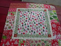 Easy Christmas quilt! Love!