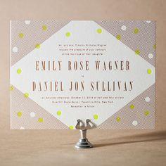 Modern Dot Letterpress Invitation Design  | 2014 wedding trend | small invitation | Eiseman Bridal