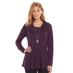 NWT. Purple long sleeve top WITH necklace NWT. Purple long sleeve top. Includes long chained necklace. Bundle and save 15%. Like the item but not the price, feel free to make an offer on the item but please do so using the offer button. Sorry, no trades Tops Blouses