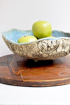 Large Urban Rustic hand built bowl from Lee Wolfe Pottery