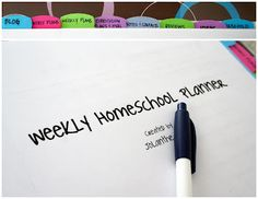 Whats in My Homeschool Planner? - Homeschool Creations (Creating a Homeschool Binder) Was Ist Pinterest, School Planner, Tot School, School Days, School Stuff, School Organization, Organizing Ideas, Home Schooling, Fun Learning