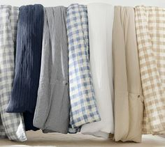 Image result for pottery barn blue check duvet