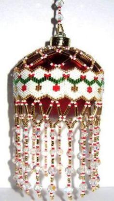 free beaded christmas patterns | Beaded Garland Christmas Ornament Cover Pattern | BeadedBundles ...