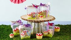 Fairy Birthday Party treat boxes