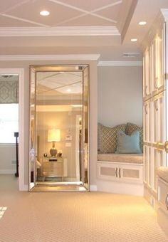 Venetian Frameless Floor Mirror to disguise door