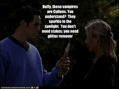 Buffy, these vampires are Cullens. You understand?  They sparkle in the sunlight.  You don't need stakes; you need glitter remover