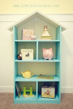 i have a doll house that miss charlotte doesn't really use any more, would make the perfect toy-case or book-case, cute idea!