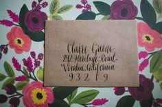 Modern Calligraphy Envelope Addressing by accreweddesign on Etsy, $2.00