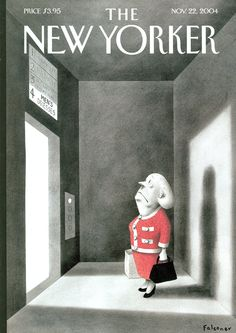 """The New Yorker - Monday, November 22, 2004 - Issue # 4099 - Vol. 80 - N° 36 - Cover """"Wrong Floor"""" by Ian Falconer"""