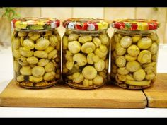 Polish Recipes, Preserves, Pickles, Stuffed Mushrooms, Beans, Food And Drink, Low Carb, Jar, Make It Yourself