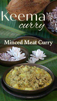 Cheesy Recipes, Lamb Recipes, Cooking Recipes, Healthy Recipes, Keema Recipes, Curry Recipes, Keema Curry Recipe, Coconut Milk Recipes, Snacks Dishes
