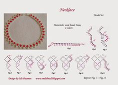 free beadwork pattern, MalaBead: Model 44.