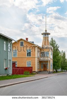 old city view in Oulu, Finland, Scandinavia