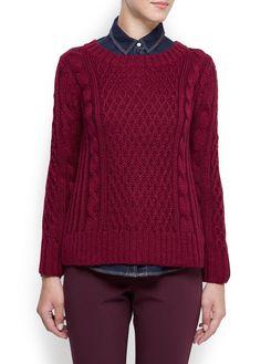 MANGO - Cable knit jumper