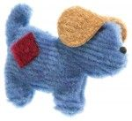 Recycled Puppy Pooch Stuffed Plush Dog Toy  find at www.dolphinblue.com