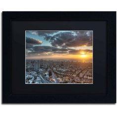 Trademark Fine Art Tel Aviv - Israel-II Canvas Art by David Ayash, Black Matte, Black Frame, Size: 11 x 14