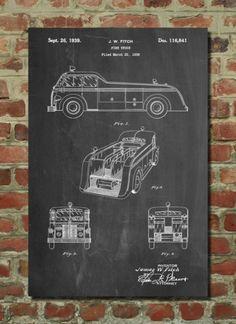 Firetruck Poster Firetruck Patent Firetruck Print Firetruck Art Firetruck Decor Firetruck Blueprint Firetruck Wall Art