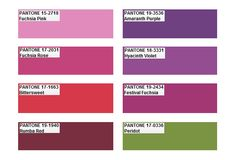 Pantone color palette 2012