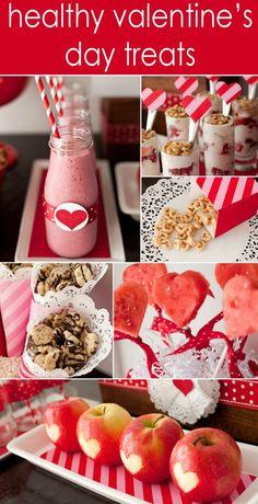 Healthy Valentine's Day Treats for Kids - for kids that have birthdays around Valentines Day!