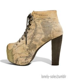 Middle Earth Map Shoes