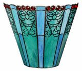 14569S Emerald Fleurs 9-Light Wireless Stained Glass Sconce by River of Goods