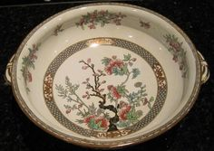 Antique Indian Tree Soup Tureen Minton China 1873-1876.
