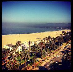 Sunrise from Santa Monica, CA  June 29, 2012