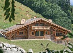 одноэтажный деревянный дом шале