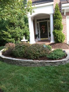 Dry stacked stone around flower beds , - front yard landscaping ideas with rocks Stone Landscaping, Landscaping Retaining Walls, Landscaping With Rocks, Front Yard Landscaping, Landscaping Ideas, Flower Bed Edging Stone, Flower Bed Borders, Stone Edging, Landscape Edging