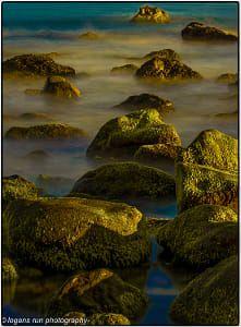 Sunsetting on the Malibu Rocks. Malibu Calfiornia