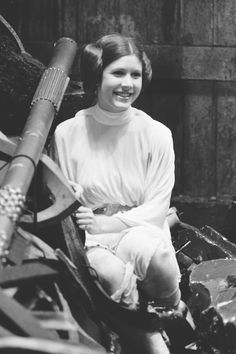 Carrie Fisher in the trash compactor apparently