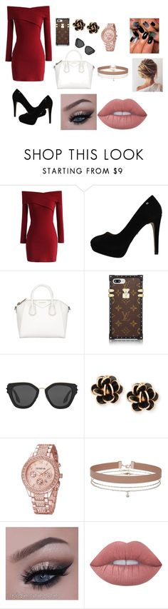 """""""Date Night"""" by brauerisabelle on Polyvore featuring Chicwish, Givenchy, Prada, Chantecler, Miss Selfridge and Lime Crime"""