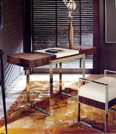 Desks & Bureaus - ART 170 MACASSAR EBONY DESK