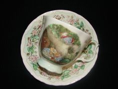 Royal Daulton Brambly Hedge 1997 English Bone China Teacup & Saucer with Mice and Strawberries. by mycabbageroseshoppe on Etsy