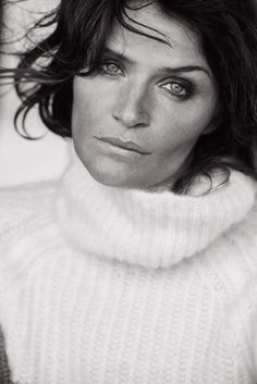 Helena Christensen. Photo: Peter Lindbergh for 'Vogue' Italia.