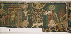 """'Abraham Angel Tapestry'   Juraj Liptak/Landesamt fuer Denkmalpflege und Archaeologie Sachsen-Anhalt/Halberstadt Cathedral Treasure Administration via Bloomberg  A detail of the """"Abraham Angel Tapestry,"""" finished in 1150 and one of 650 items belonging to the Halberstadt Cathedral Treasure. It is the most comprehensive hoard of cathedral treasure still kept in its original home."""