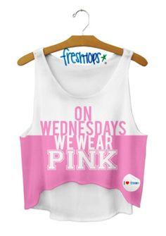 On Wednesdays We Wear Pink (Mean Girls) Crop Top #freshtops
