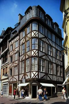 #Normandy - a typical Norman style half-timbered house in Rouen #architecture