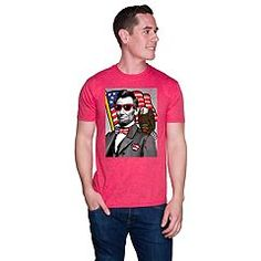 Pledge your allegiance with this men's Abe Lincoln tee. Mens Patriotic Shirts, Graphic Tees, Celebrities, Mens Tops, Clothes, Box Store, Lincoln, Marvel, Trends
