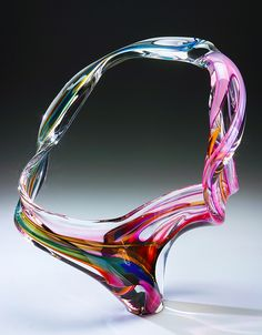 "*Art Glass - ""Large Loop Sculpture"" by David Goldhagen"