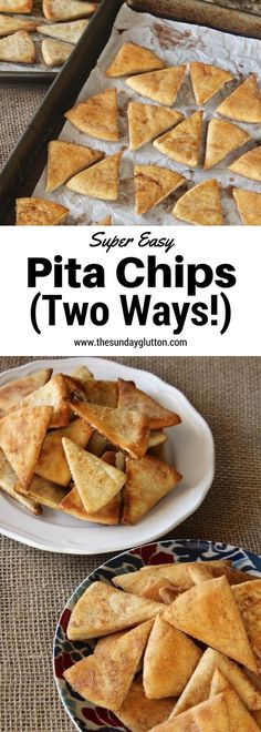 Easy Pita Chips are a great, versatile snack to have around the house - perfect for dipping in salsa, scooping up hummus, or just eating on their own.