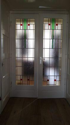 glas in lood binnendeuren ontwerp kinderdijkstraat amsterdam