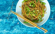 Try Mark Bittman's Ginger Noodle Salad With Snow Peas as an Easy Savory Side This one-pan vegan recipe is from Mark Bittman's new cookbook, . It's delicious on its own or as a side dish. Related: Mark Bittman's Peanutty Asian-Style Nood Best Vegan Recipes, Veg Recipes, Salad Recipes, Vegetarian Recipes, Cooking Recipes, Sesame Noodle Salad, Mark Bittman, Low Sodium Recipes, Snow Peas