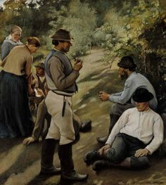 Pekka Halonen was a painter of Finnish landscapes and people in the national romantic style. National Gallery, Andrew Wyeth, North Europe, Old Paintings, Vintage Artwork, Illustrations And Posters, Art Day, Denmark, Norway