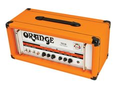 Orange AmplifiersTH30H 30W Tube Guitar Amp Head. Two channels (Clean/Dirty) with 7W, 15W, and 30W outputs: 4 ECC83 preamp tubes, 4 EL84 power amp tubes, and an ECC81 for the tube-buffered FX loop