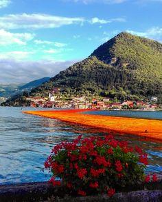 Speciale veduta su The Floating Piers proposta da elyarcobaleno. Nella sua galleria instagram tante immagini mozzafiato dell'opera di #Christo #thefloatingpiers