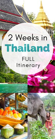 Looking for the BEST two weeks in Thailand itinerary! I've got you covered! This complete Thailand itinerary will tell you everything you need to know for a wonderful 10 to 14 days in Thailand, covering Bangkok, Chiang Mai, and the stunning islands!