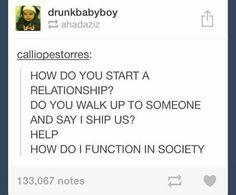 I would totally date someone who said I ship us