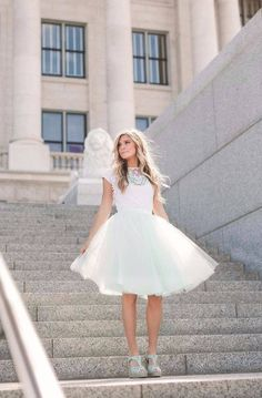The tulle skirt is perfect for assortment to various outfits, creating a special occasion outfit that you can hardly even equal. White Tulle Skirt, Special Occasion Outfits, Flower Girl Dresses, Girly, Wedding Dresses, Skirts, Clothes, Cos, Fancy